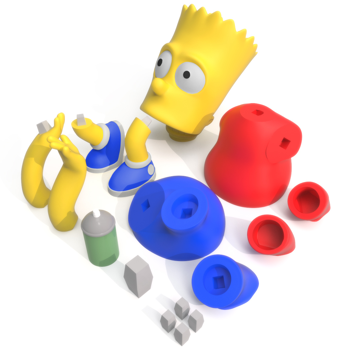 Bart Simpson Print Bed, 3D Printer Models