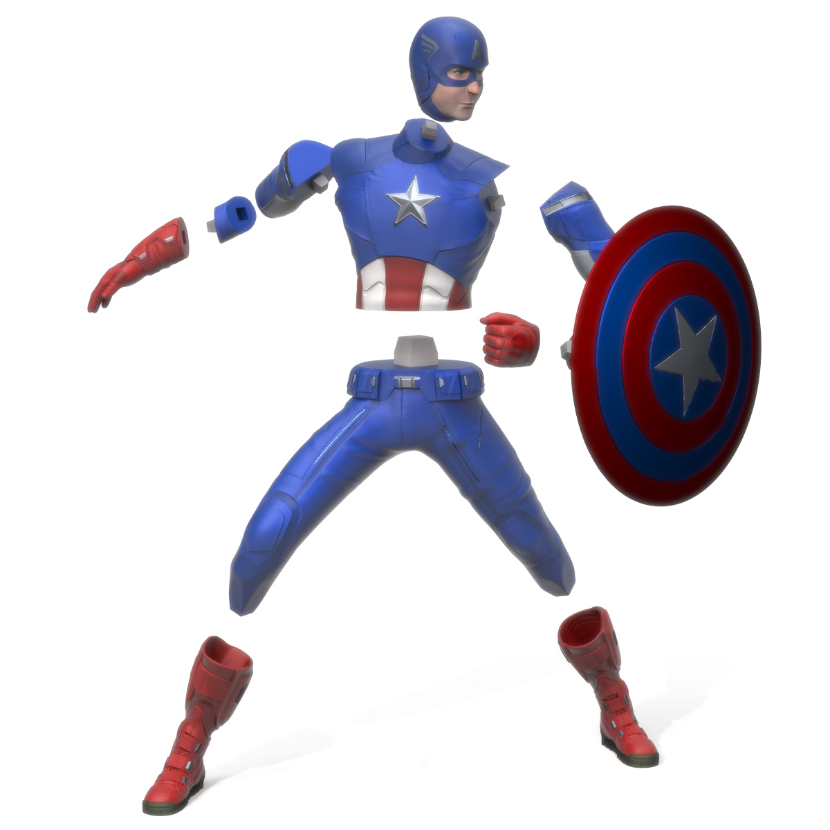 Captain America Exploded, 3D Printer Models