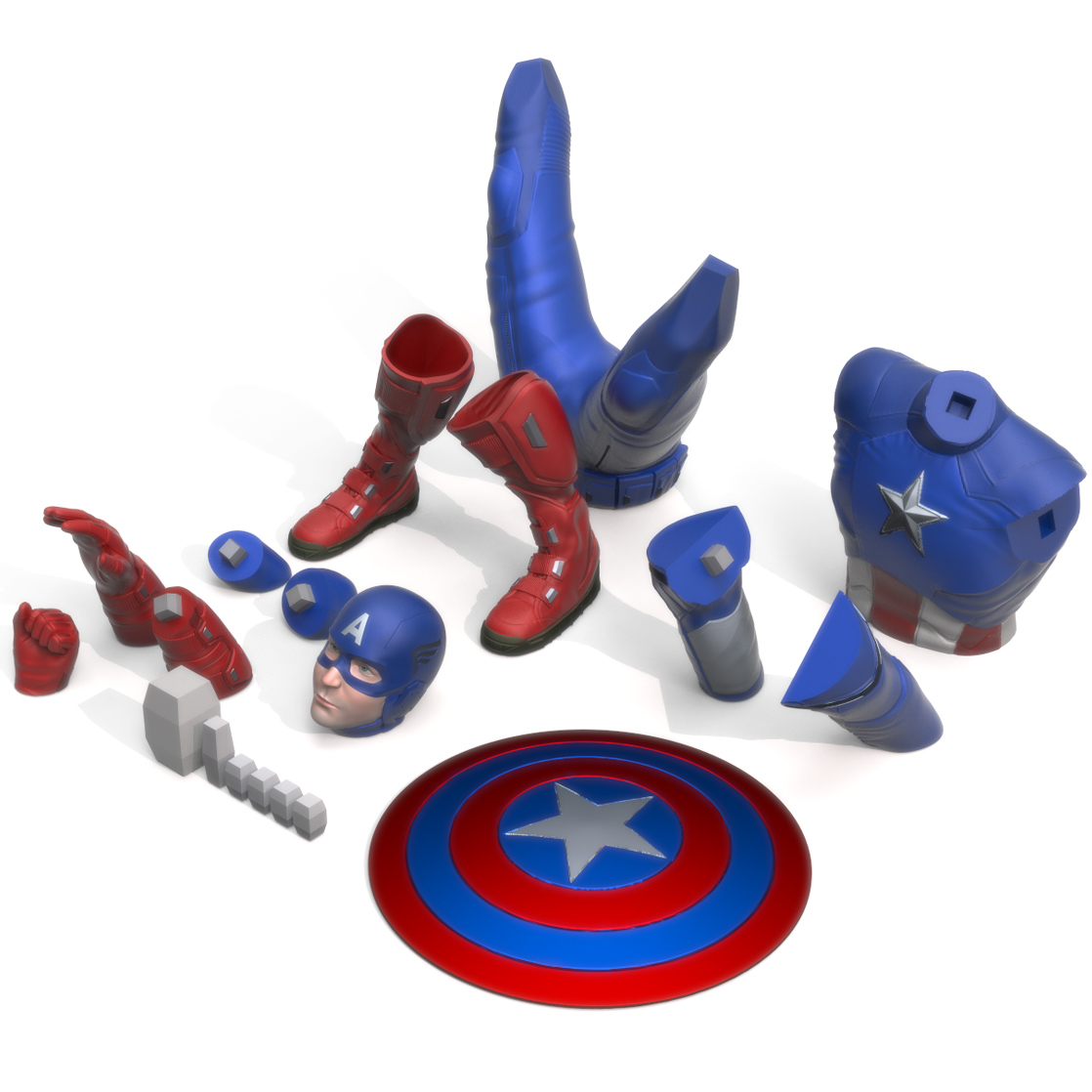 Captain America Print Bed, 3D Printer Models