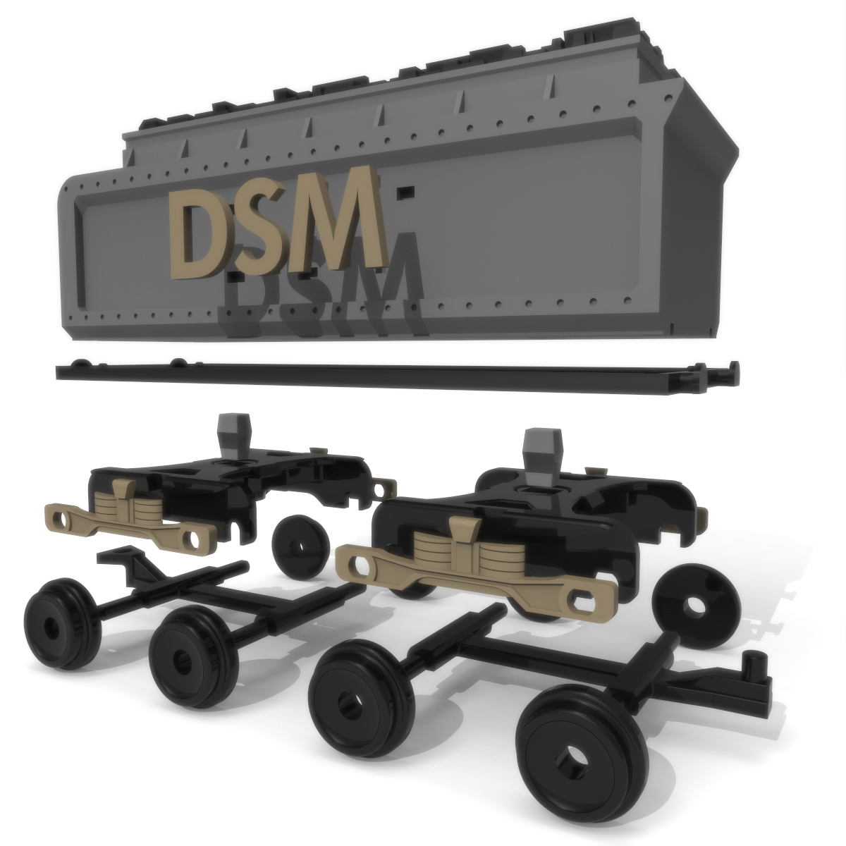 Coal Wagon Exploded, 3D Printer Models