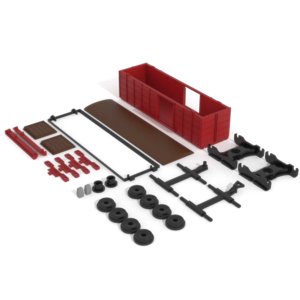 Freight Wagon Print Bed, 3D Printer Models