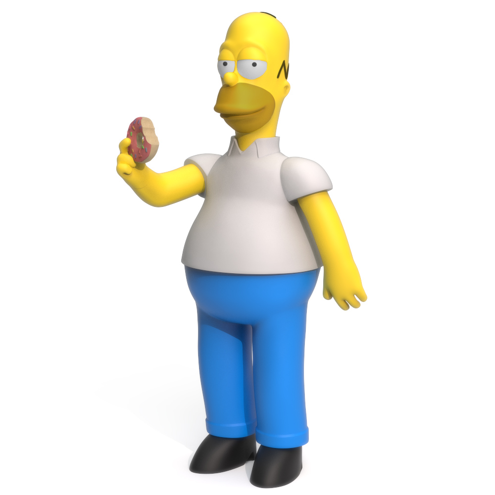 Homer Simpson, 3D Printer Models