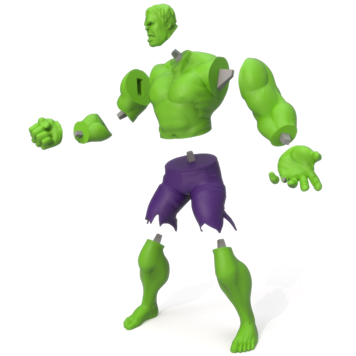 Hulk Exploded, 3D Printer Models