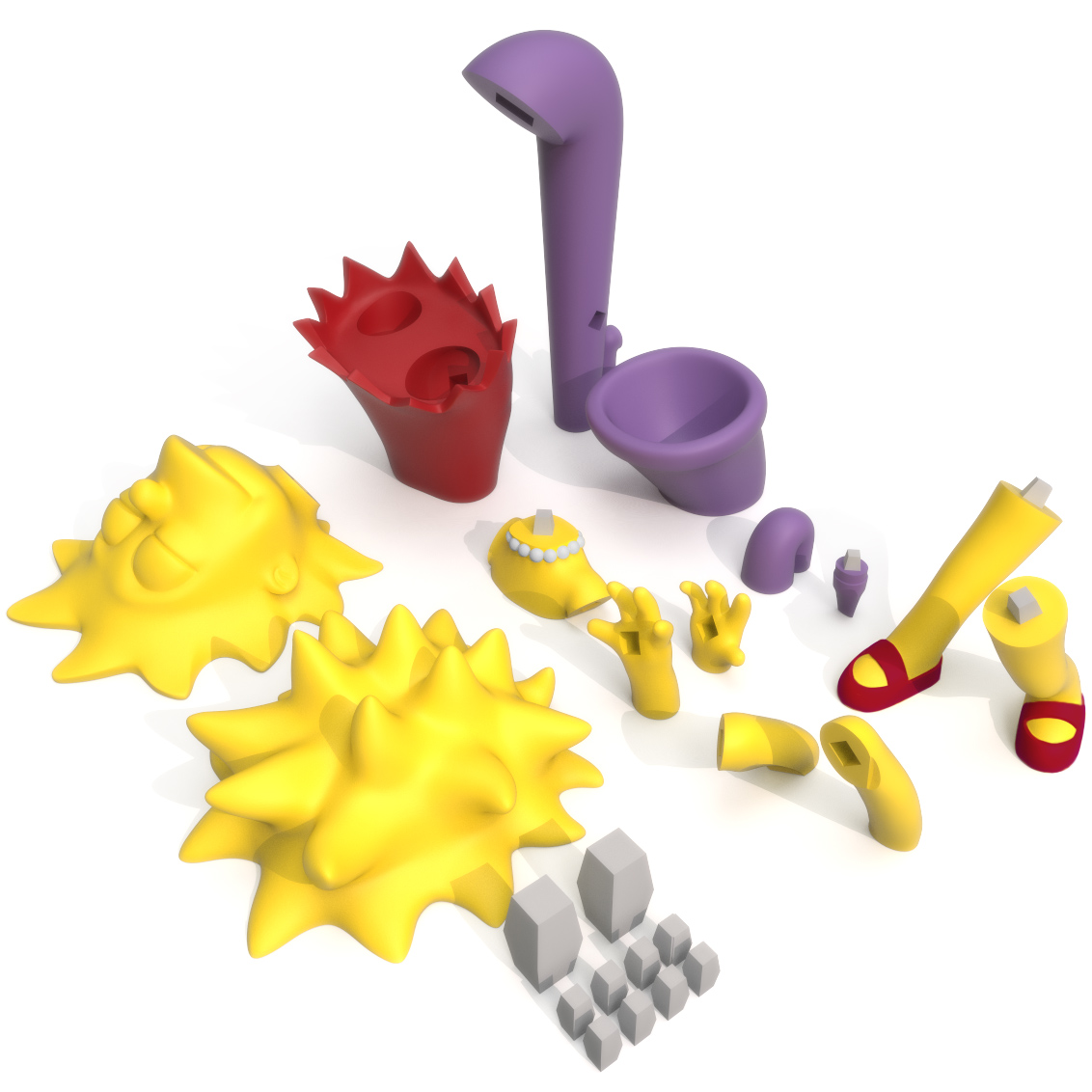 Lisa Simpson Print Bed, 3D Printer Models