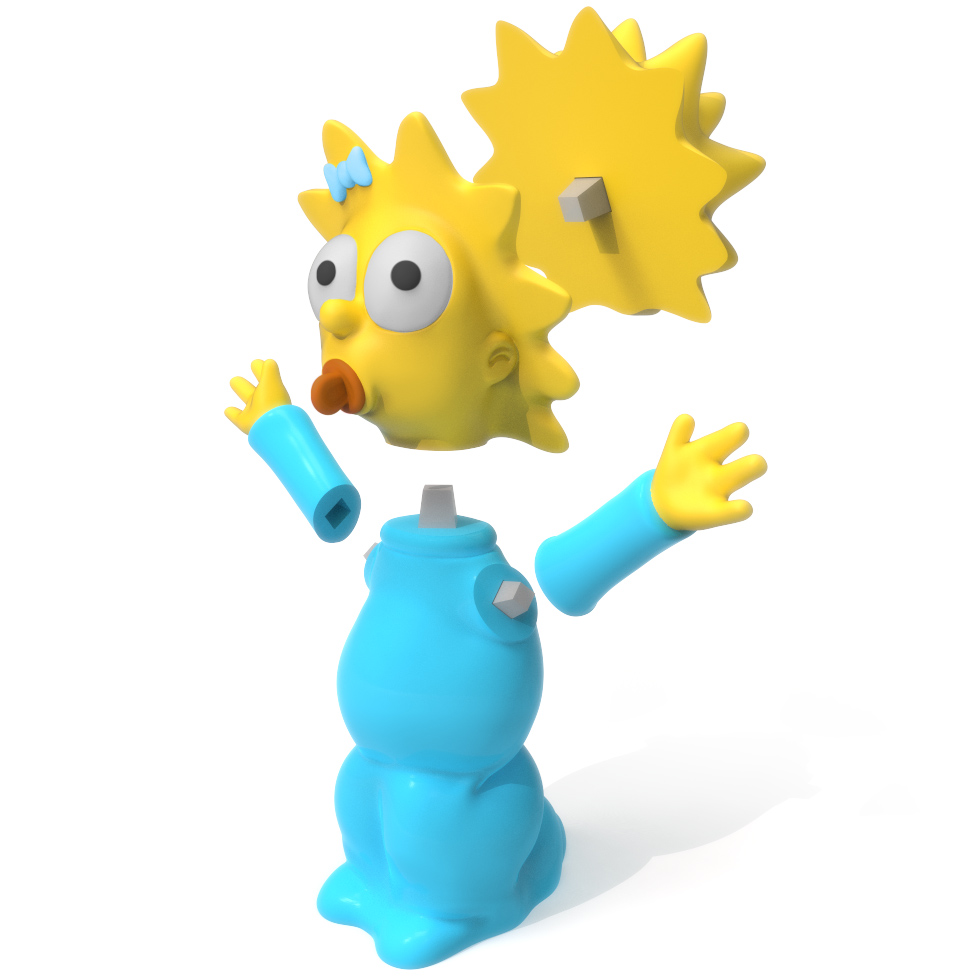Maggie Simpson Exploded, 3D Printer Models