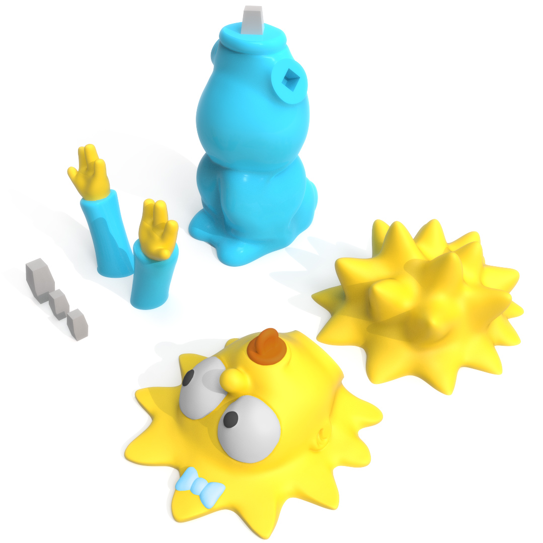 Maggie Simpson Print Bed, 3D Printer Models