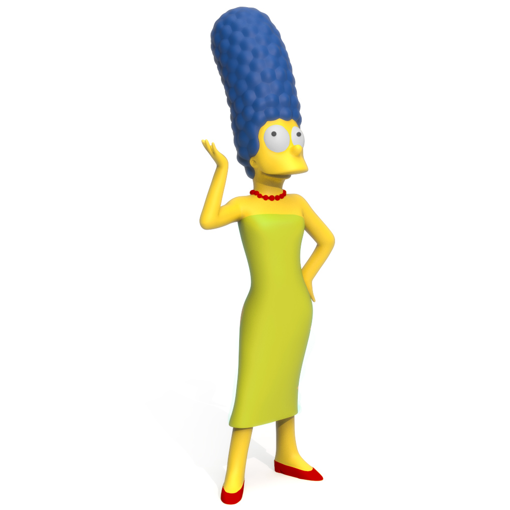 Marge Simpson, 3D Printer Models