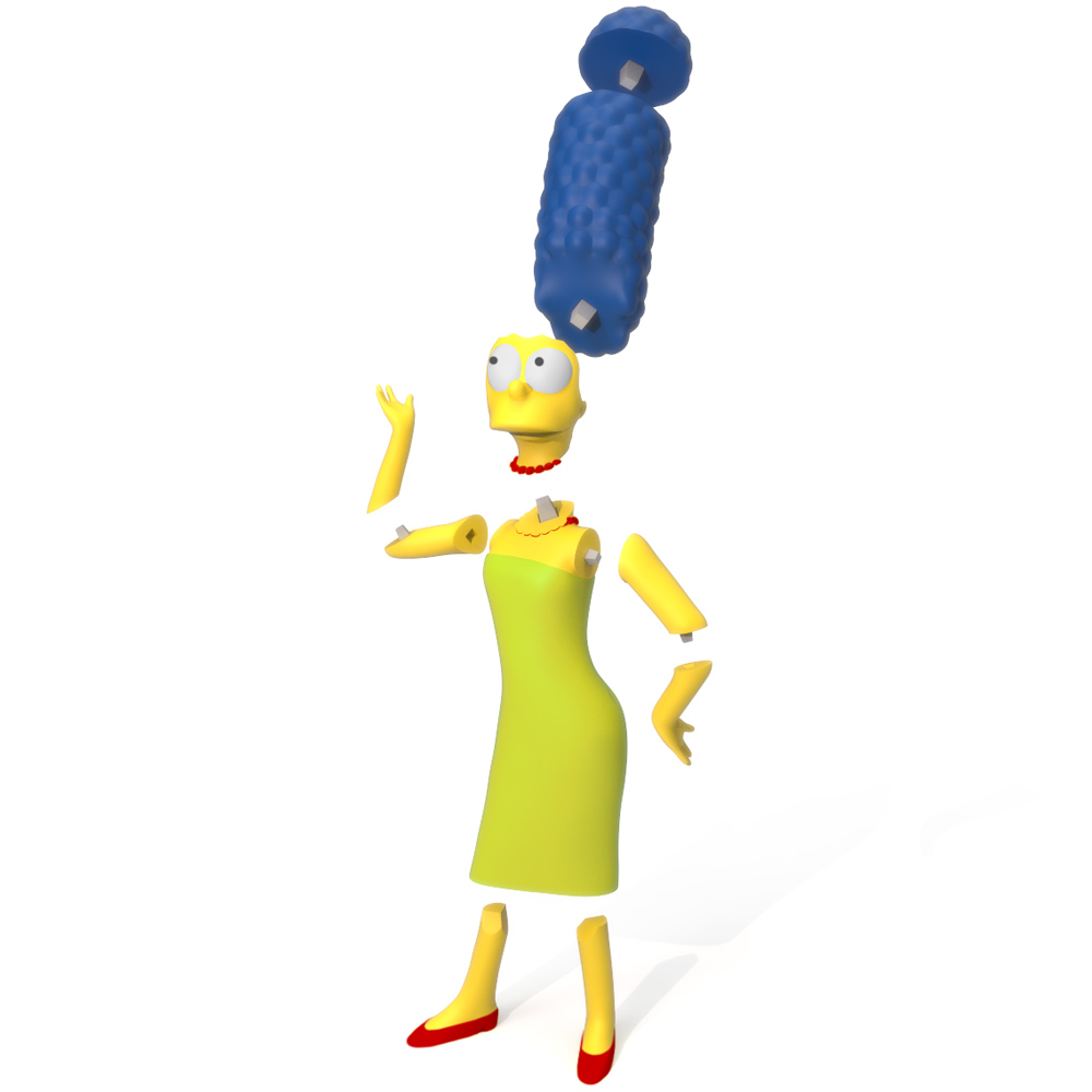 Marge Simpson Exploded, 3D Printer Models