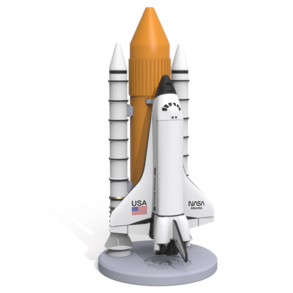 Space Shuttle Discovery, 3D Printer Models