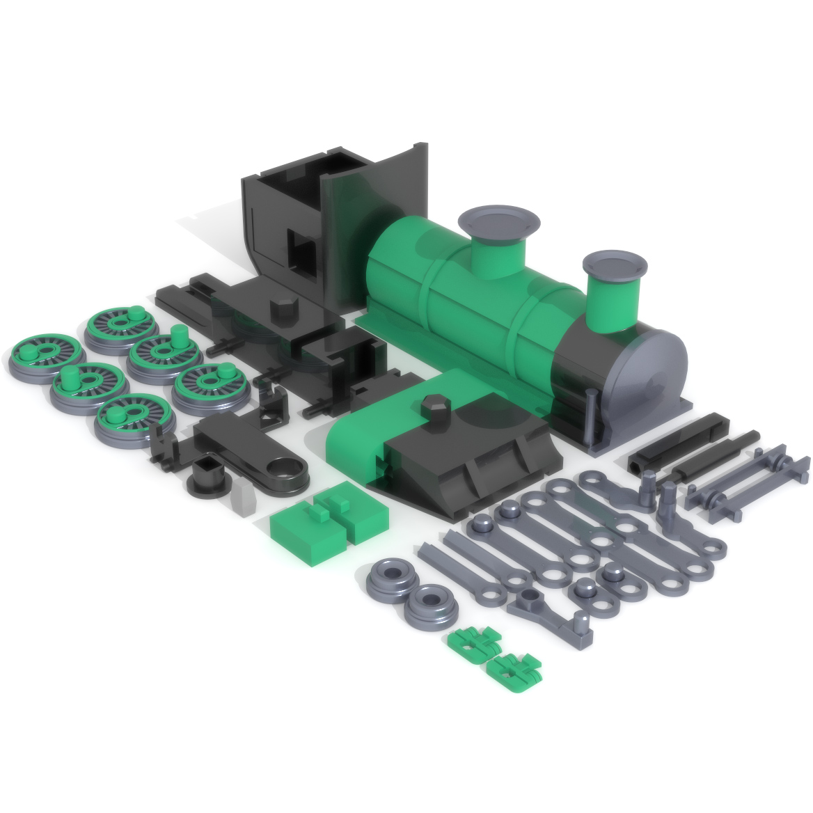 Steam Engine Print Bed, 3D Printer Models