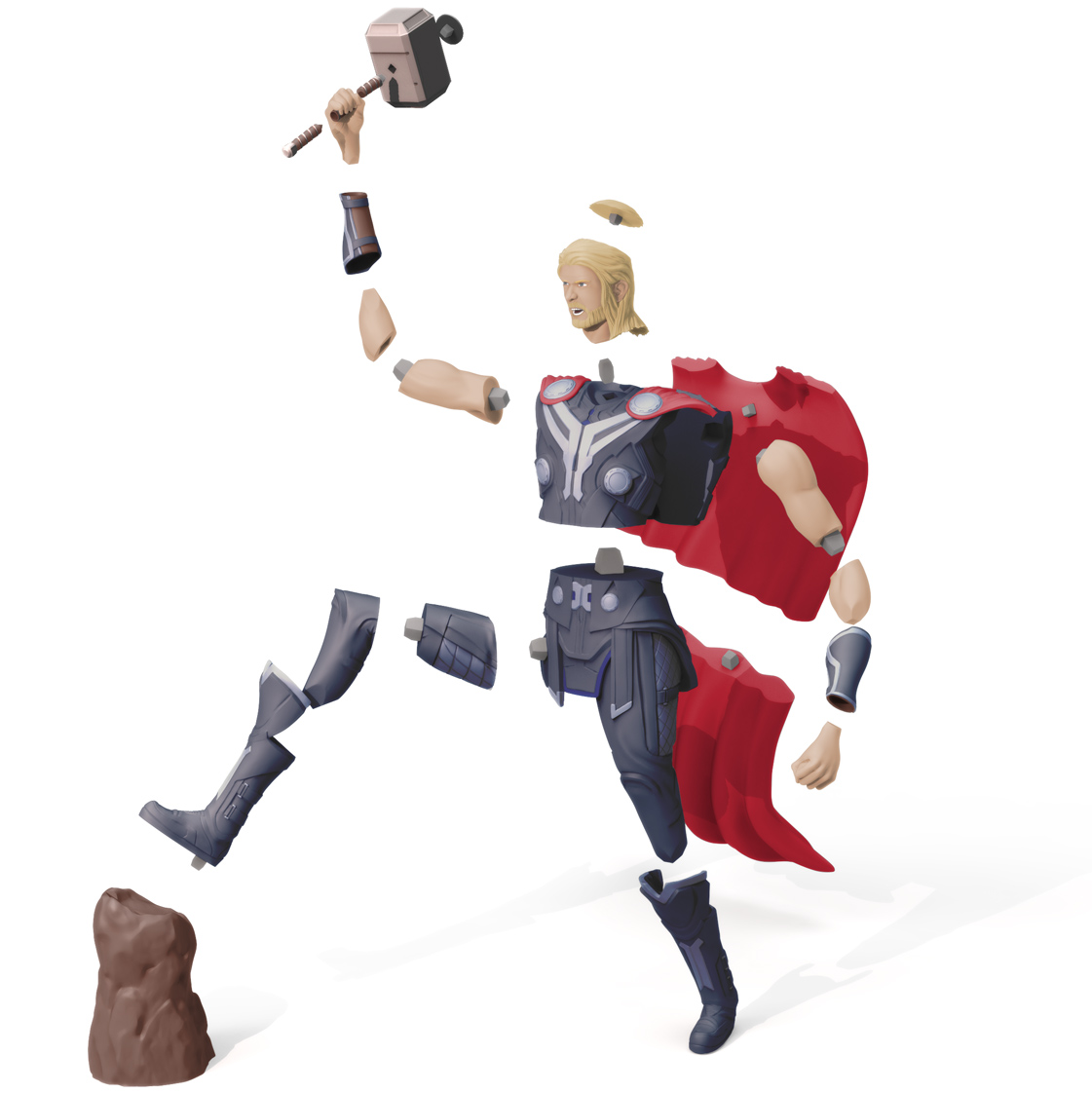 Thor Exploded, 3D Printer Models